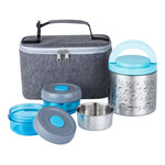Load image into Gallery viewer, Lille Home Lunch Box Set, An Vacuum Insulated Lunch Box Keeping Food Warm for 4-6 Hours, Two BPA-Free Food Containers, and A Lunch Bag