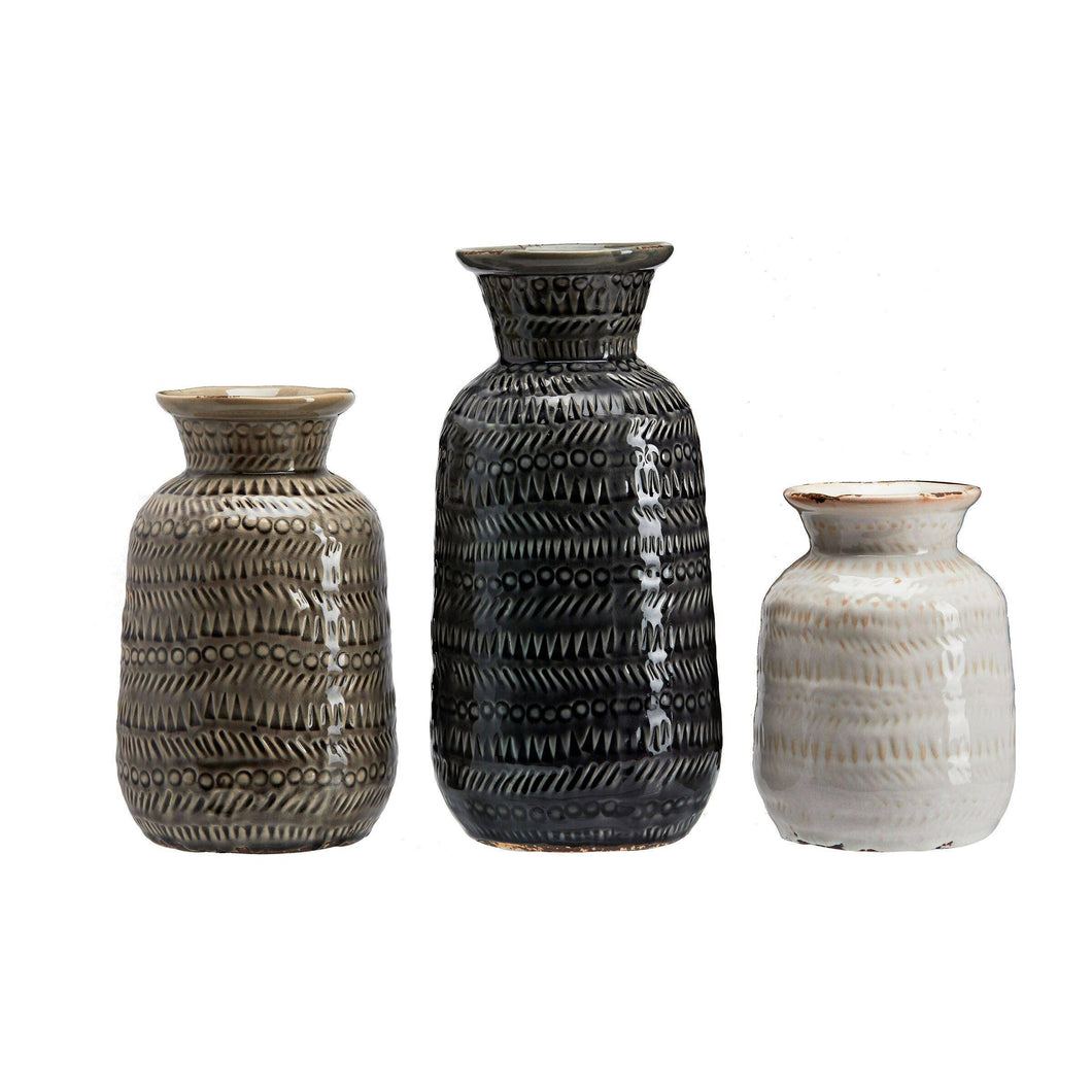 Ceramic Bohemia Vase Set Of 3