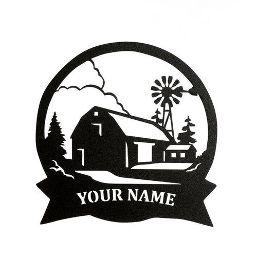 Farm Scene Custom Sign - LoneTree Designs