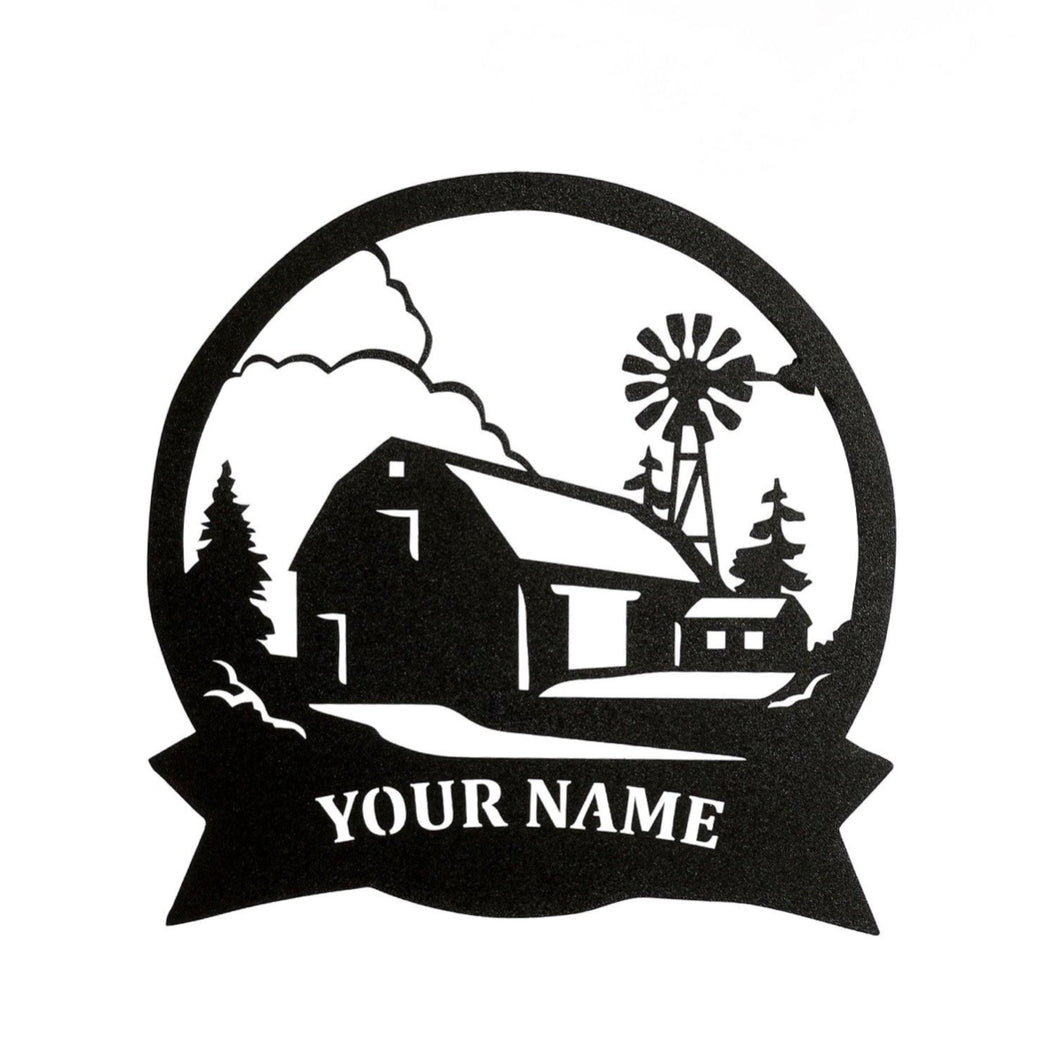 Farm Scene Custom Sign