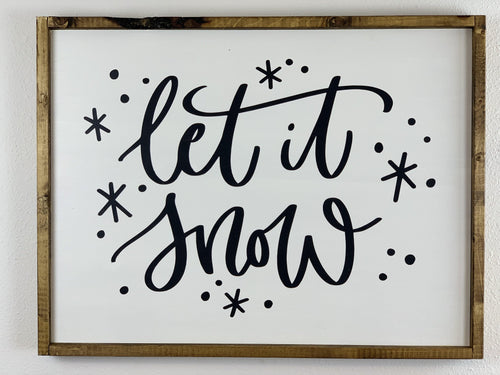 Christmas Wall Hanging Let it Snow