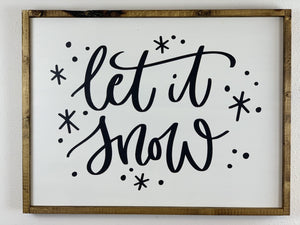 Christmas Wall Hanging Let it Snow - LoneTree Designs