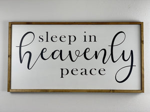 Christmas Wall hanging Sleep in Heavenly Peace
