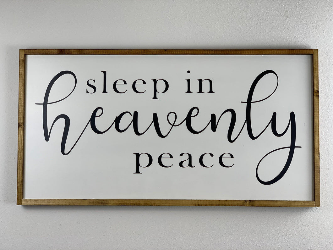 Christmas Wall hanging Sleep in Heavenly Peace - LoneTree Designs