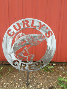 Walleye Metal Garden Sign