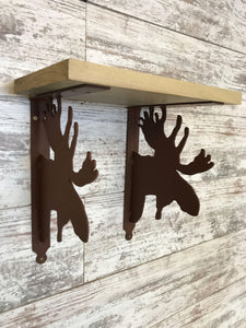 Shelf Bracket Moose (set of 2)