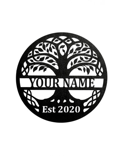 Tree of Life w Name and Established - LoneTree Designs