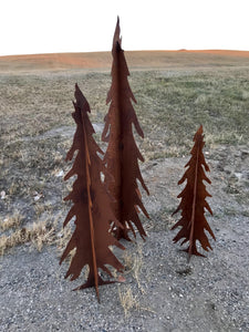 Rusty Metal Trees 3D
