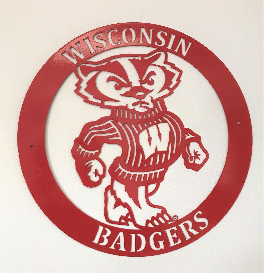 Wisconsin Badger Round Wallhanging