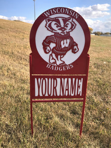 Wisconsin Badger Tailgator Yard Stake