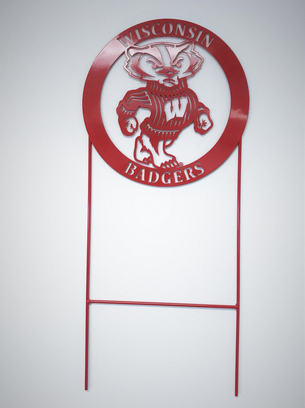 Wisconsin Badger Yard Stake