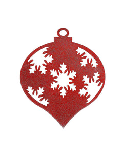 Christmas Teardrop Snowflake Ornament