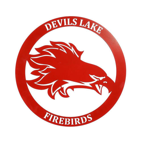 Devils Lake Firebird Round Wallhanging