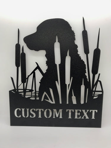 Lab in Cattails Custom Sign - LoneTree Designs