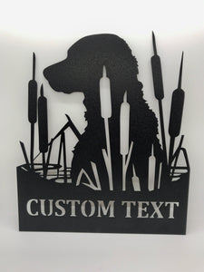 Lab in Cattails Custom Sign