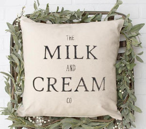 Milk and Cream Pillow - LoneTree Designs