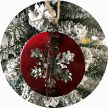 Load image into Gallery viewer, Christmas Snowflake Ball Ornament 3D