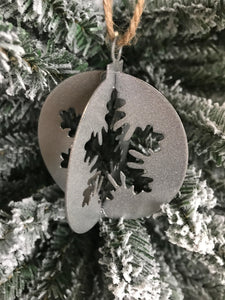 Christmas Snowflake Ball Ornament 3D