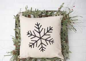 SnowFlake Pillow - LoneTree Designs