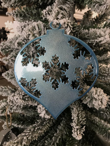 Ornament Christmas Teardrop Snowflake - LoneTree Designs