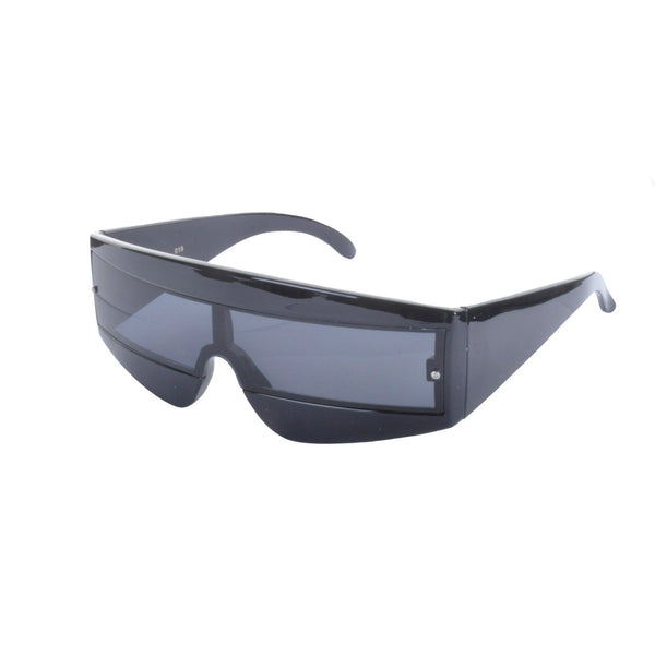 80s Sci Fi Visor Wrap Around Sunglasses - Minimum Mouse