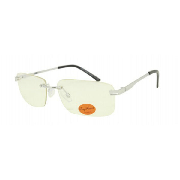 90s Style Rimless Clear Lens Glasses - Minimum Mouse