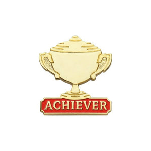 Achiever Metal Trophy Lapel Pin Badge - Minimum Mouse