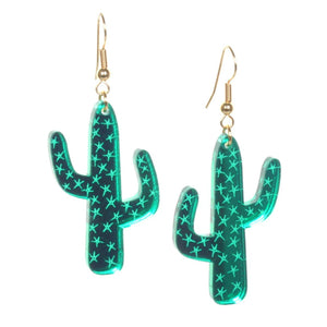Acrylic Cactus Earrings by Love Boutique - Minimum Mouse