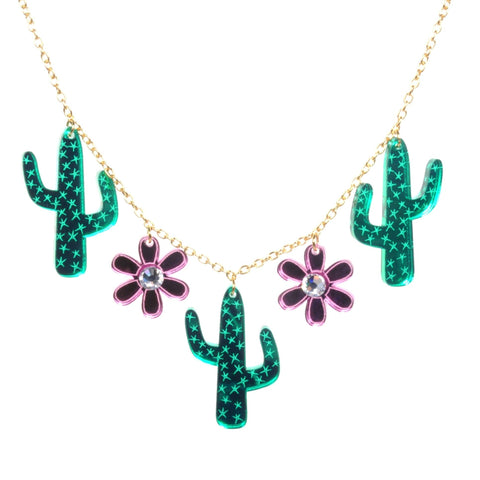 Acrylic Cactus Necklace by Love Boutique - Minimum Mouse