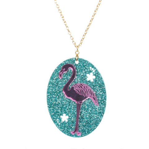 Acrylic Flamingo Necklace by Love Boutique - Minimum Mouse