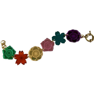 Acrylic Jewel Blossoms Bracelet by Love Boutique - Minimum Mouse