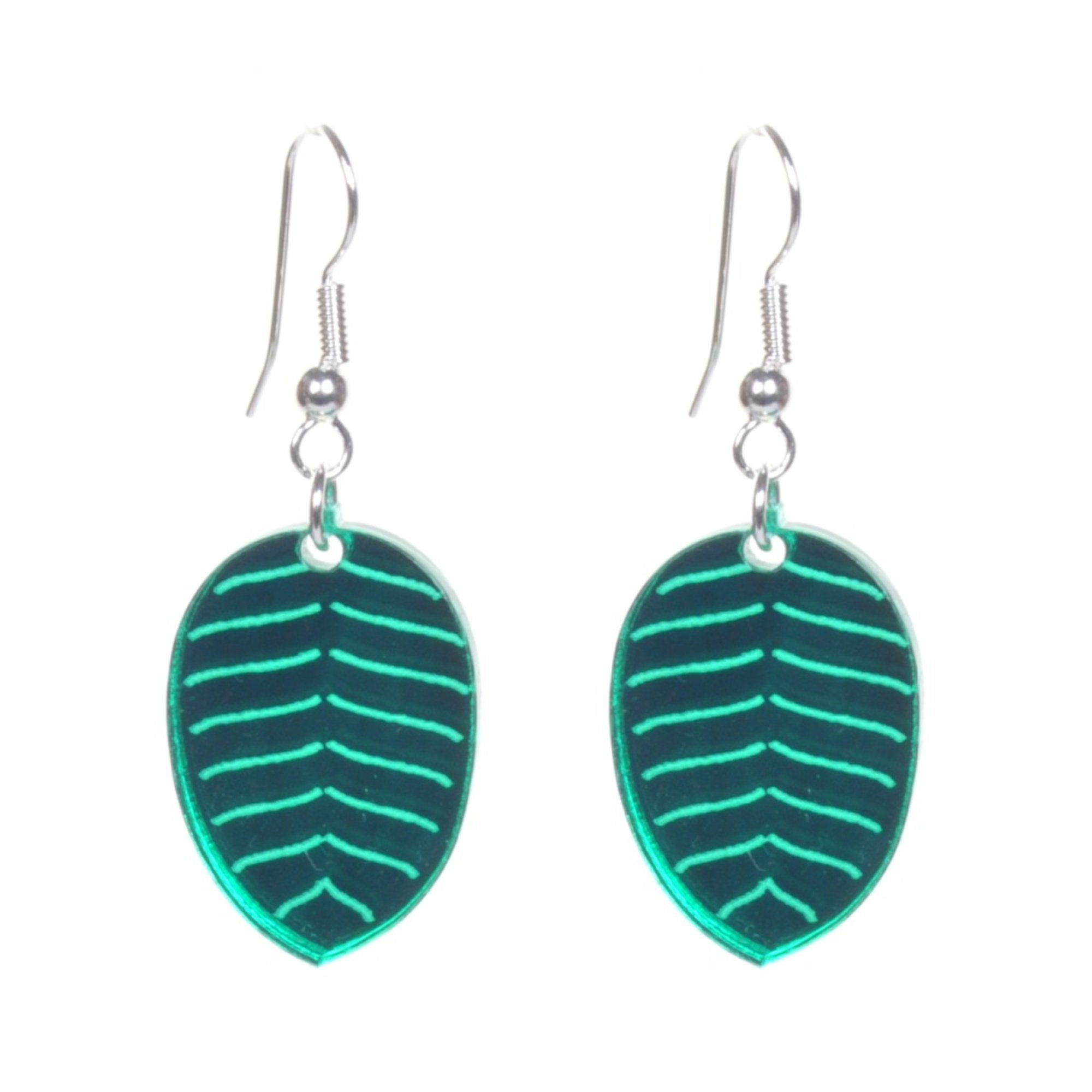 Acrylic Leaf Earrings by Love Boutique - Minimum Mouse