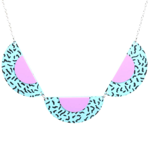 Acrylic Memphis Necklace by Love Boutique - Minimum Mouse