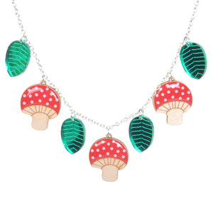 Acrylic Mushroom Necklace by Love Boutique - Minimum Mouse