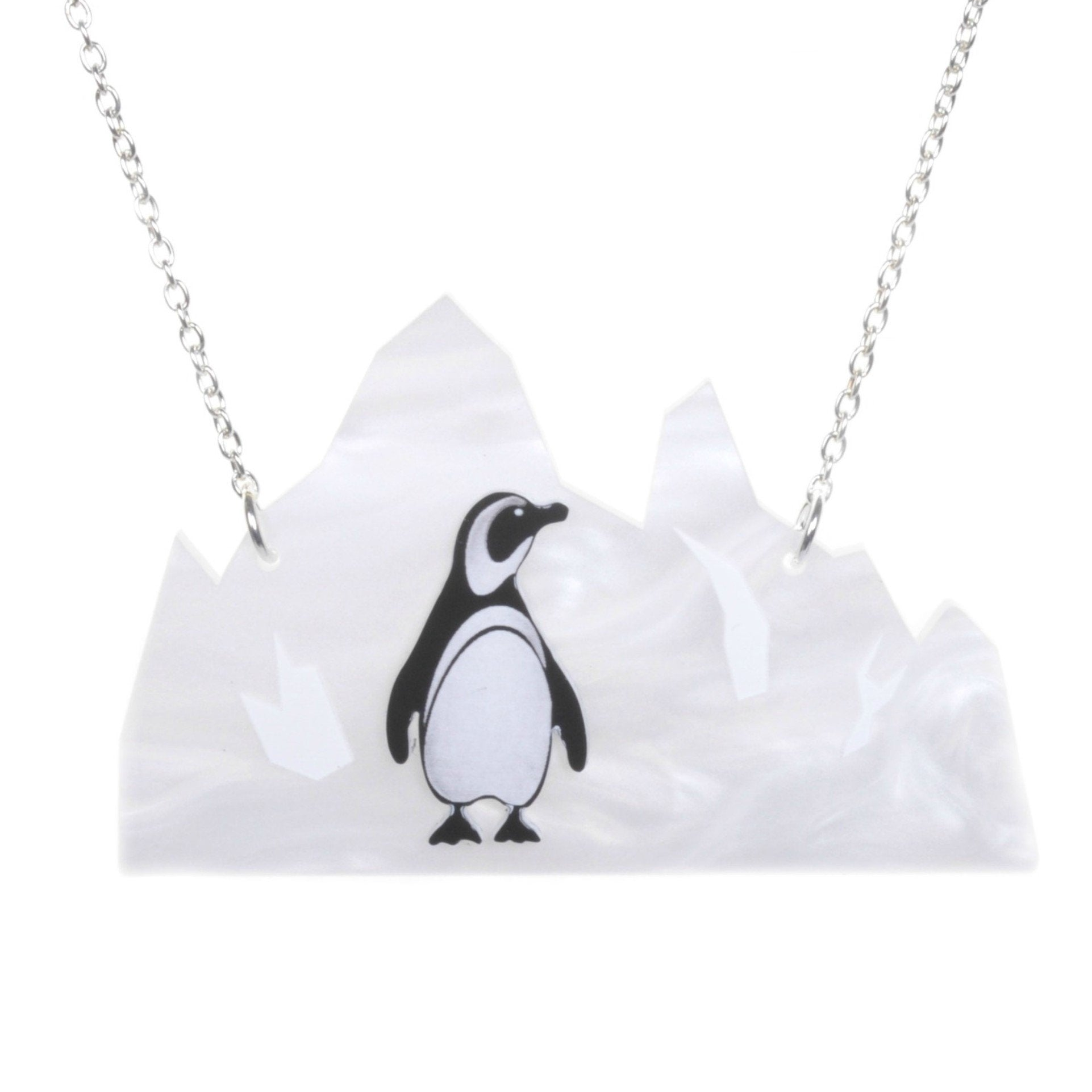 Acrylic Penguin Iceberg Necklace by Love Boutique - Minimum Mouse