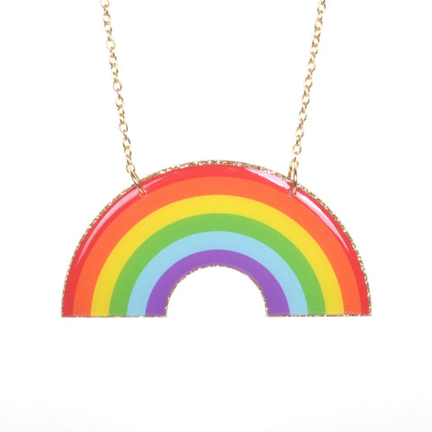Acrylic Rainbow Necklace by Love Boutique - Minimum Mouse