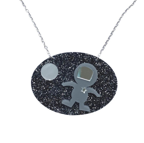 Acrylic Spaceman Necklace by Love Boutique - Minimum Mouse