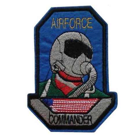 Airforce Commander Iron On Space Patch - Minimum Mouse