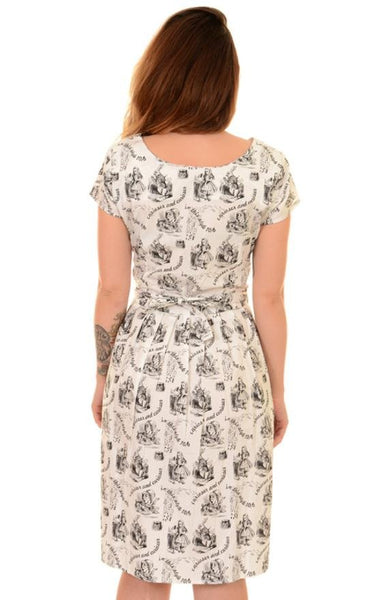 Alice In Wonderland Curious Print Dress by Run and Fly - Minimum Mouse