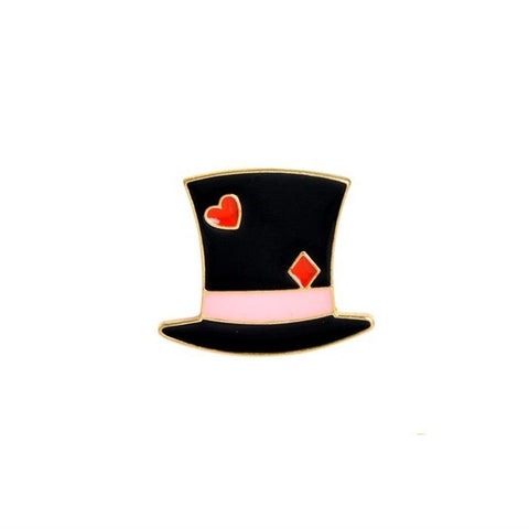 Alice In Wonderland Top Hat Enamel Lapel Pin Badge - Minimum Mouse