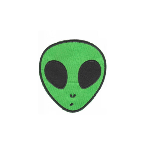 Alien Head Iron On Space Patch - Minimum Mouse