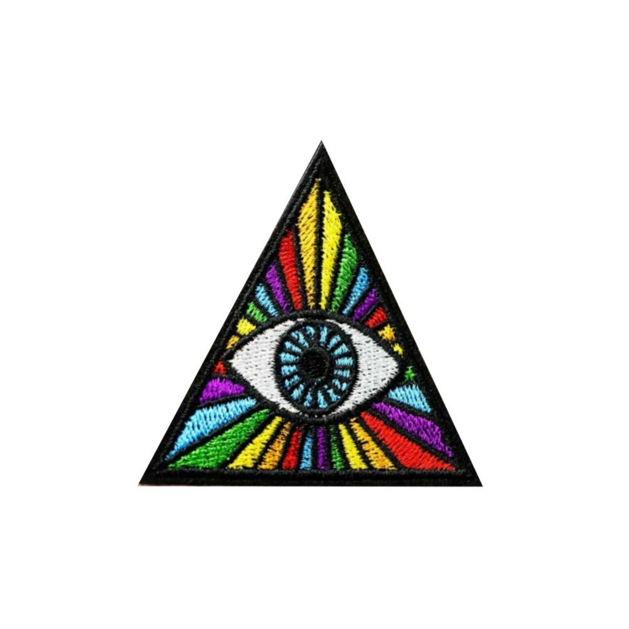 All Seeing Eye Iron On Rainbow Patch - Minimum Mouse