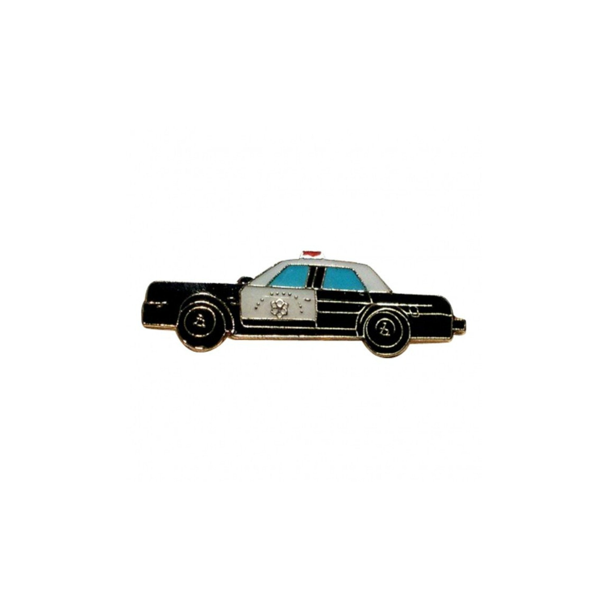 American Police Car Enamel Lapel Pin Badge - Minimum Mouse