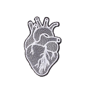 Anatomical Heart Iron On Patch - Minimum Mouse