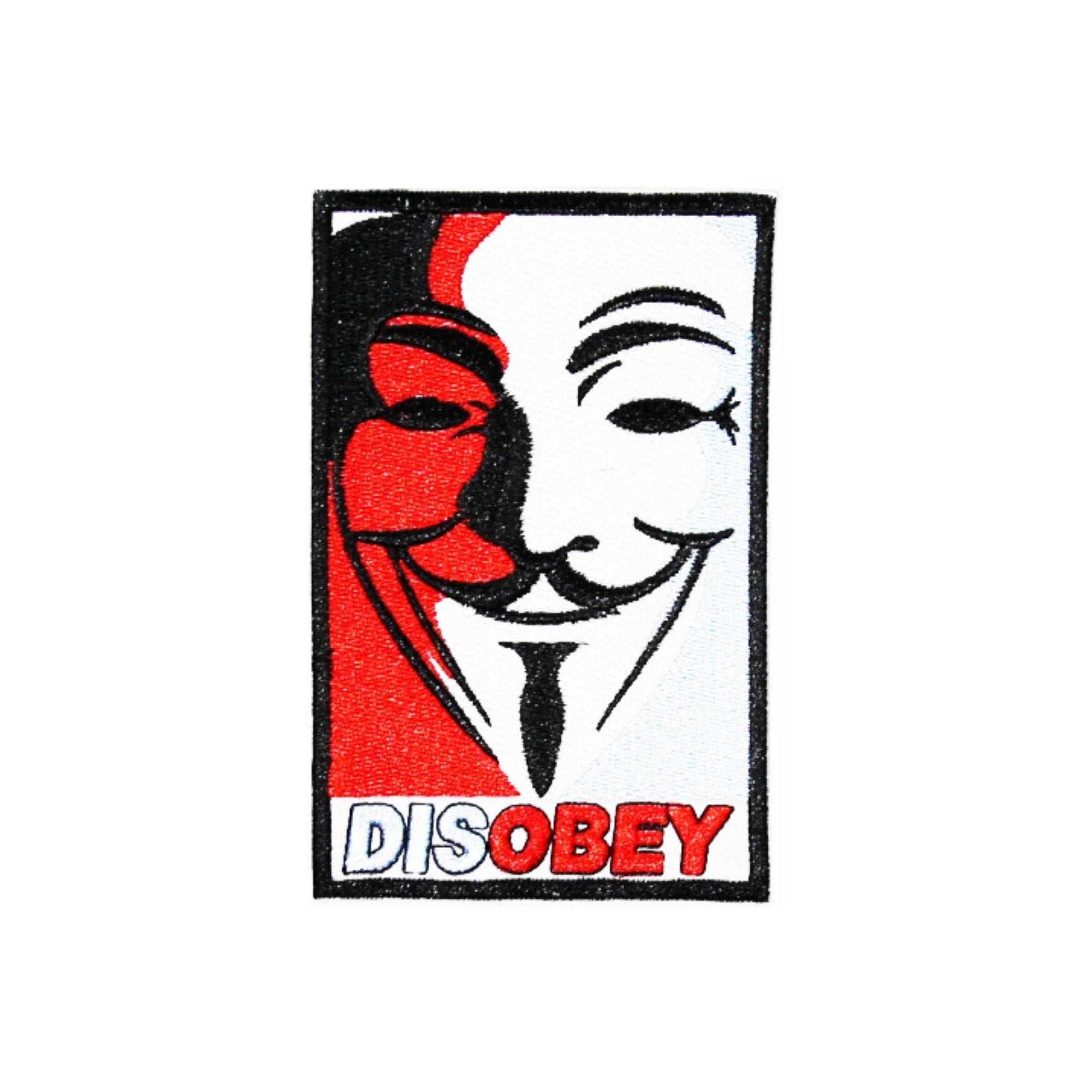 Anonymous Disobey Iron On Patch - Minimum Mouse