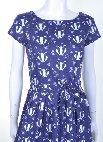 Badger Print Dress by Run and Fly - Minimum Mouse