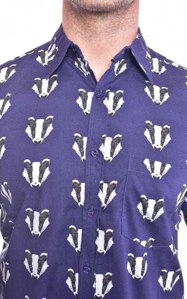 Badger Print Shirt by Run and Fly - Minimum Mouse