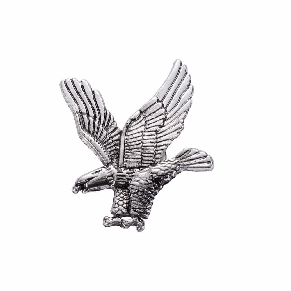 Bald Eagle Pewter Lapel Pin Badge - Minimum Mouse