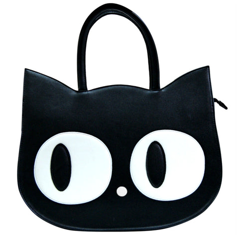 Black Cat Face Bag by Banned Apparel