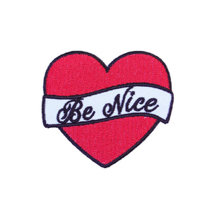 Be Nice Iron On Patch - Minimum Mouse